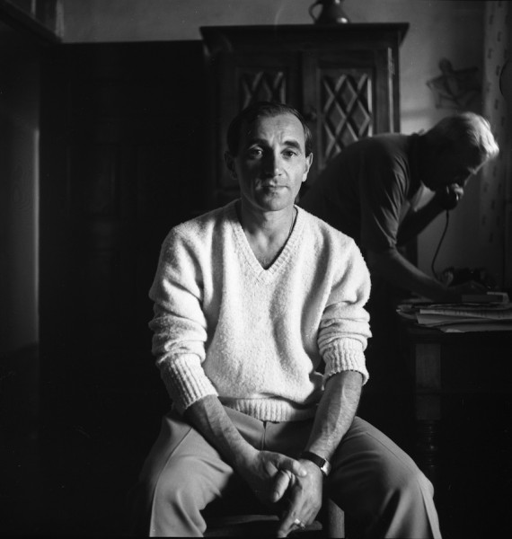 Aznavour_et_Prévert par André Villers