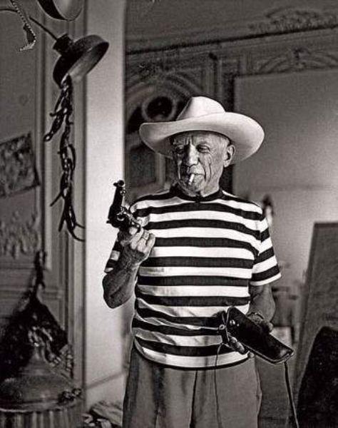 Picasso avec son chapeau de cowboy